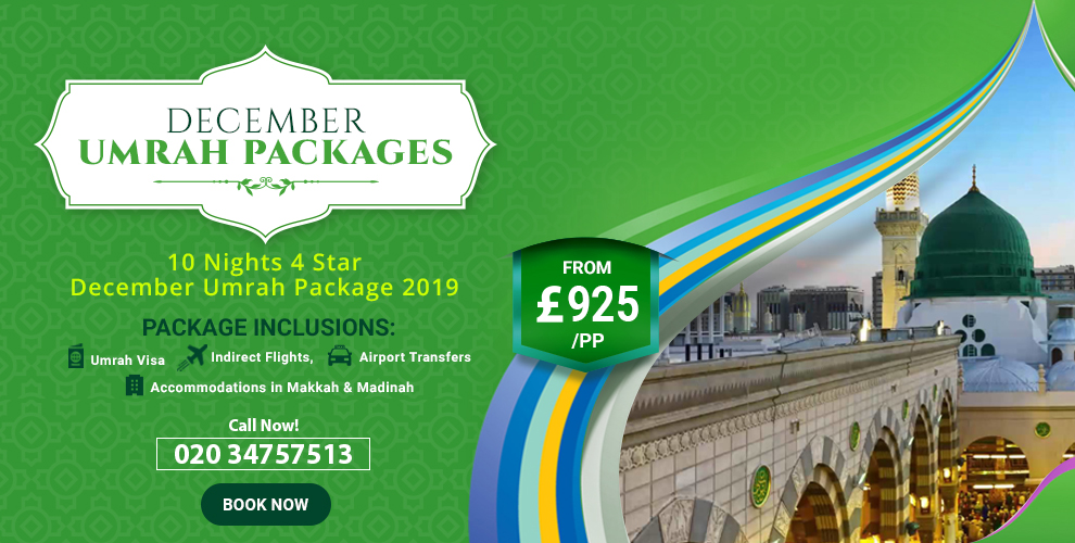 Umrah Banner: December Umrah Deals In London With All-inclusive Packages