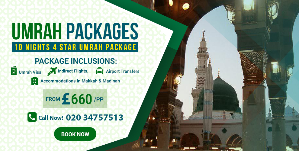 Umrah Banner: Customisable Umrah Packages 2019-2020