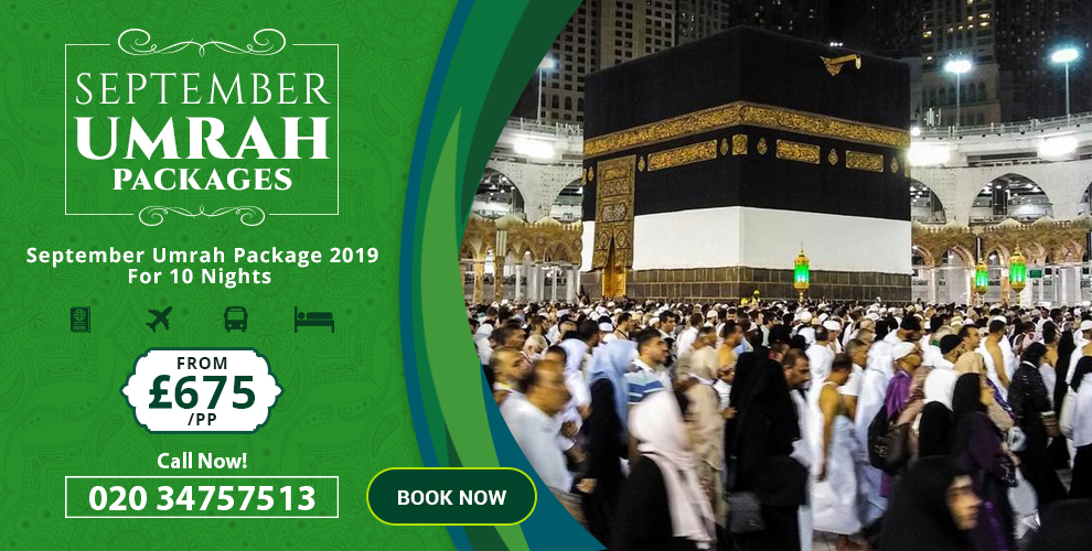 Reserve cheap September Umrah packages with exclusive discounts